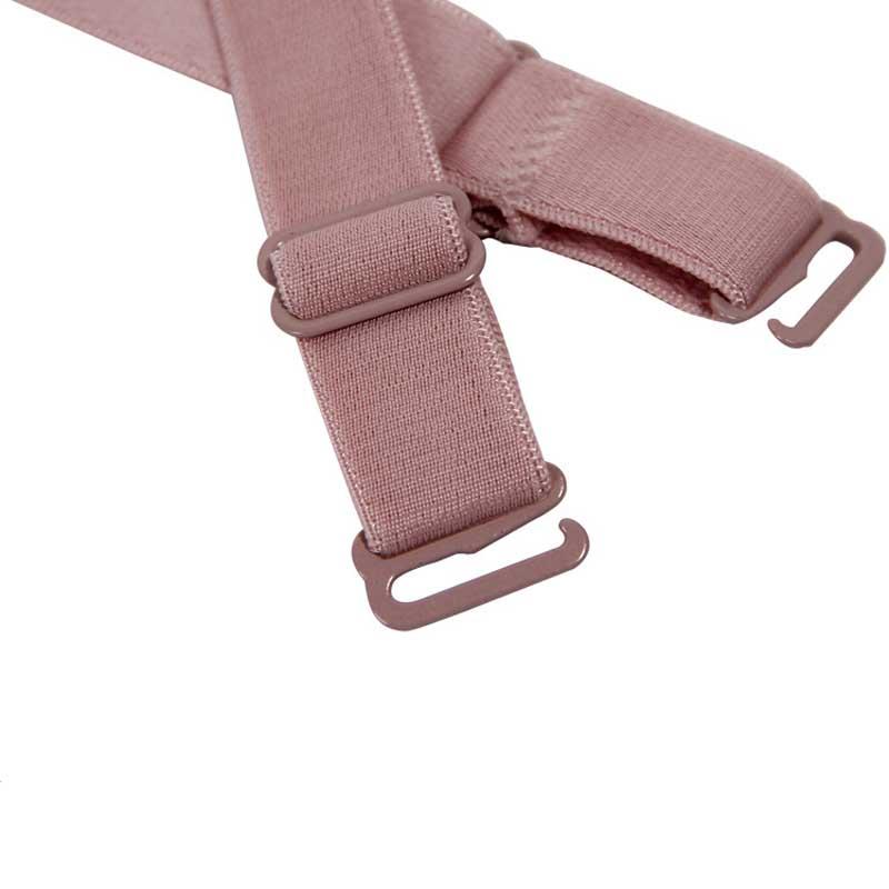 1 Pair 1.5CM Candy Color Double-Shoulder Adjustable Shoulder Strap Pectoral Girdle Elastic Bra Straps