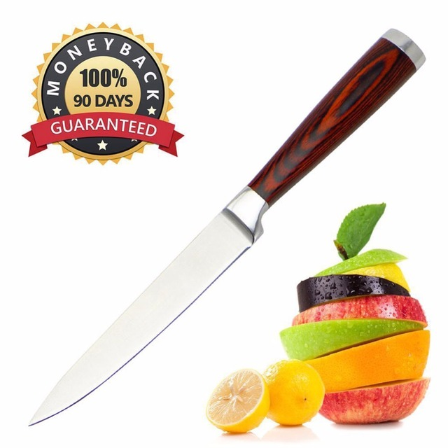 Chef Knife 5 Inch Multi Purpose High Carbon Stainless Steel Kitchen Sharp Blade And