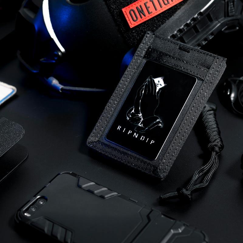 OneTigris Armee Fan Taktische ID Karte Fall Patch Neck Lanyard und Kreditkarte Veranstalter ID Karte Halter