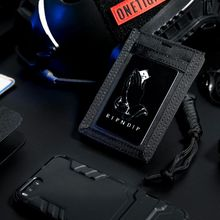 OneTigris Army Fan Tactical ID Card Case Patch Neck Lanyard and Credit Card Organizer ID Card Holder