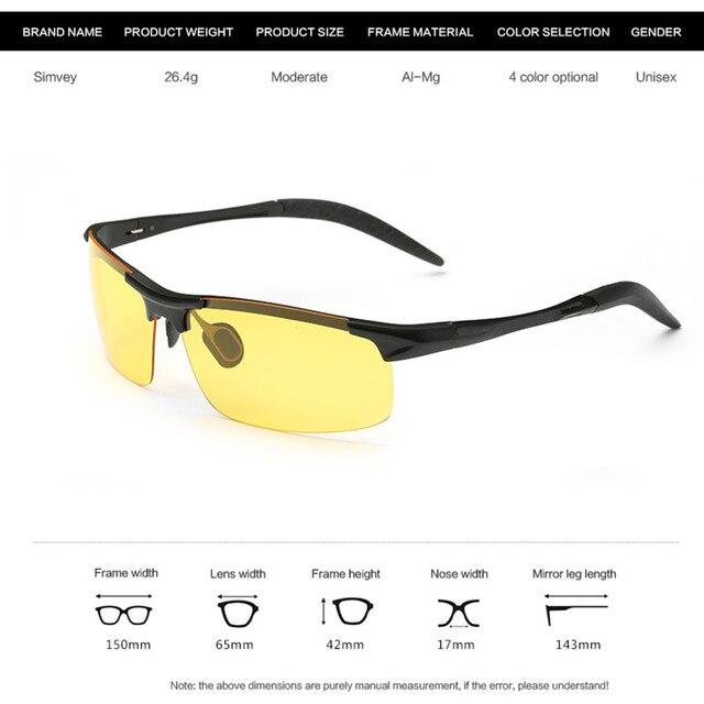 Men Night Driving Glasses Aluminum Alloy HD Night Vision Goggles Anti-glare Polarizer Sunglasses Car Drivers Glasses 5