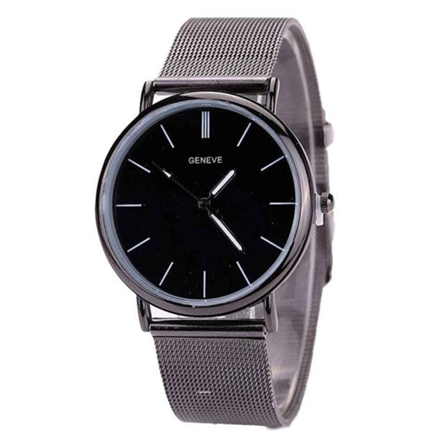 Top Brand Men Watches Fashion Stainless Steel Analog Quartz Wrist Watch Lady Luxury Mesh Band Bracelet Watch Relogio Feminino projector lamp bulb rlc 055 rlc055 for viewsonic pjd5352 pjd5122 pjd5152 with housing