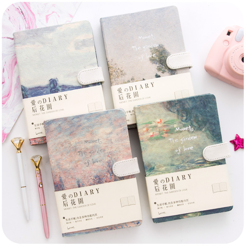 Image 2 - JIANWU painting Colorful note book Hard shell notebook schedule planner kawaii scrapbook Hardcover diary office School supplies-in Notebooks from Office & School Supplies