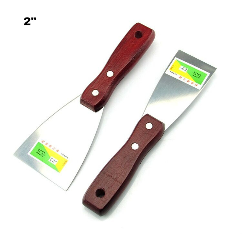 Stainless Steel Solid Wood Handle Scraper 2