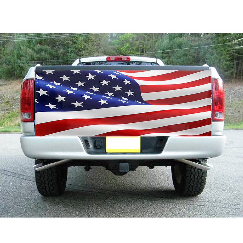 Image 2 - 167CM X 58CM Car Stickers American Flag For Truck Tailgate Wrap Vinyl Decal Sticker Vehicle Auto Exterior sticker Accessories-in Car Stickers from Automobiles & Motorcycles