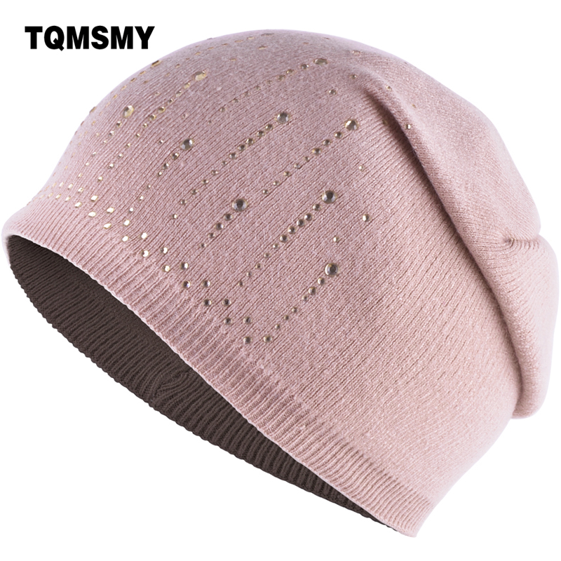 все цены на TQMSMY Women Rabbit Wool Winter Beanie Hat For Women High Quality Warm Women's Casual Knitted Hat Female Skullies Beanies TMS94 онлайн
