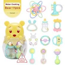 Купить с кэшбэком Baby Toys 11PCS 0-12 Months Rattles oyuncak Mobile Rattle Bed Children Speelgoed Educational Toy Bell Newborns Beanbag For Girls