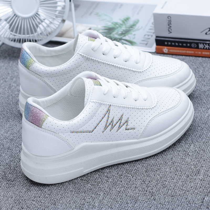Small white shoes female spring wild basic flat summer breathable casual white shoes tide board shoes foreign gas womens shoes