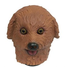 Hot Selling Halloween Party Cosplay Brown /White/BlackTeddy Head Dog Animal Latex Mask