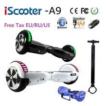 IScooter 6,5 дюймов hoverboard UL2272 Bluetooth Электрический скейтборд рулевое колесо Smart 2 Колеса self балансировщик скутер