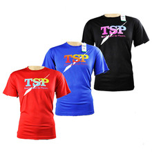 TSP 83501 koszulki do tenisa stołowego koszulki męskie damskie ping pong Cloth Odzież sportowa szkolenia koszulki 3colors tanie tanio Unisex Pasuje do rozmiaru Weź swój normalny rozmiar