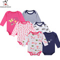 3pcs/ Lot New Born Clothes Long Sleeves Baby Rompers Infant Costume Bebe Jumpsuits One Piece Romper Body Suit Baby Girls Clothes