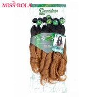 Мисс Рола эффектом деграде (переход от темного к накладки из волнистых волос Синтетические пряди для наращивания волос Свободные Волнистые...