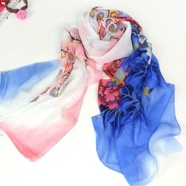 3731dfea6b1 Mousseline de soie foulard femmes créateur de mode marque écharpe châles  d hiver et écharpes