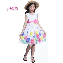 Girls Summer Dress Children Clothes 2019 New Fashion Print Princess Party Kids Dresses for Girls Clothing 4 6 8 10 12 13 Years