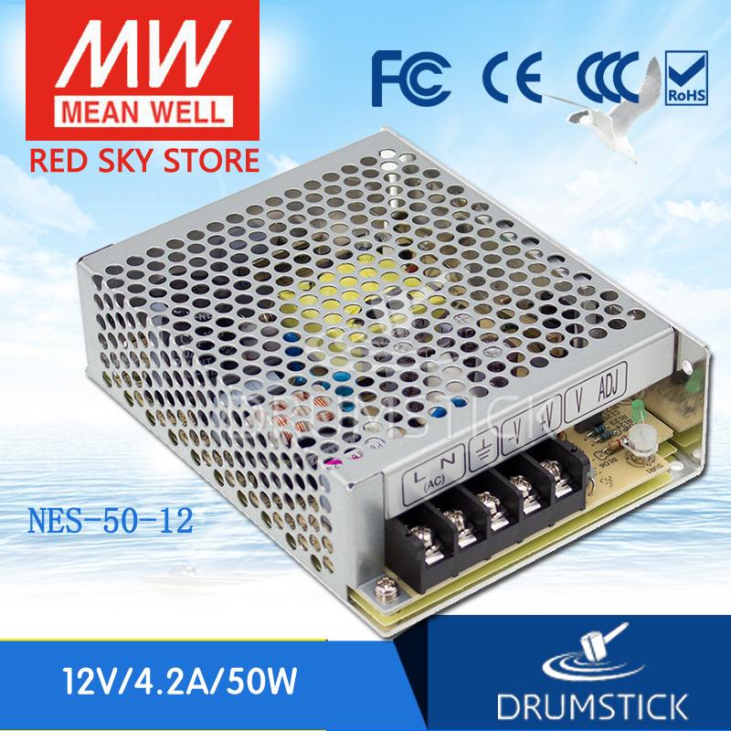 (12.12)MEAN WELL NES-50-12 12V 4.2A meanwell NES-50 50.4W Single Output Switching Power Supply original mean well nes 350 12 ac to dc single output 350w 29a 12v meanwell power supply nes 350