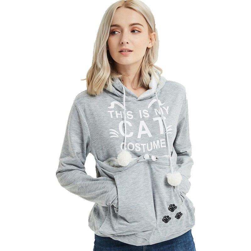 Sweats à capuche pour femme Couple chat de grandes poches imprimé sweat chats japonais hiver avec pulls Long dessin animé à capuche
