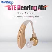 BTE Hearing AID Digital Tone Adjustable Low Noise Convenient Hearing AIDS Voice Amplifier Ear Care