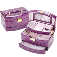 RU High Quality Jewelry Box Casket Box For Jewelry Exquisite Makeup Case Jewelry Organizer Graduation Birthday Gift eiffel tower
