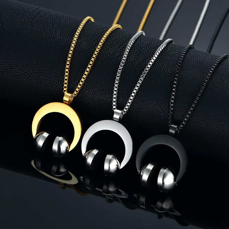 Hip Hop Jewelry Stainless Steel Music Headphone Pendant (5)