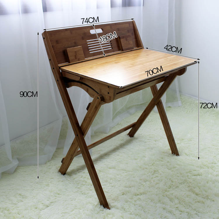 90*74*72CM Eco-friendly Bamboo Children Folding Study Table Writing Desk Modern Student Learning Table
