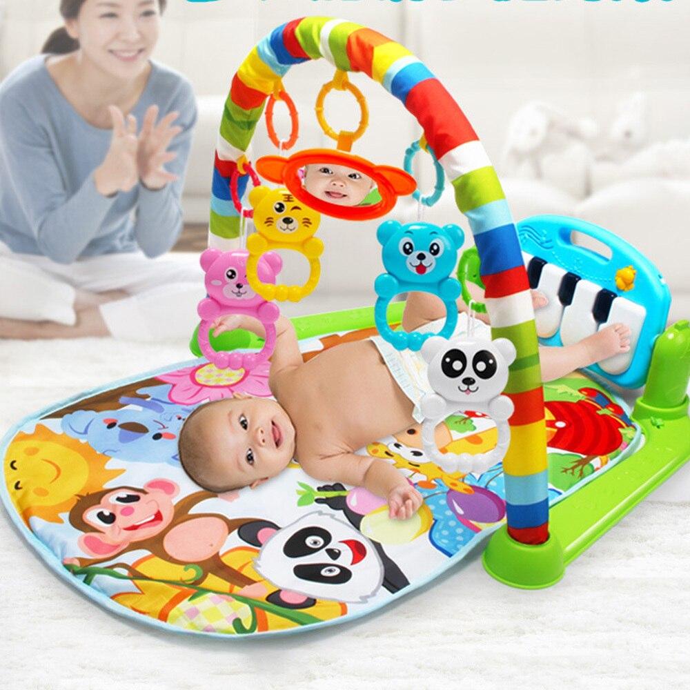 Baby Play Game Crawling Mat RugToys Kid Carpet Education Rack Toy Music Developing Mat With Piano Keyboard Infant Gym Carpet