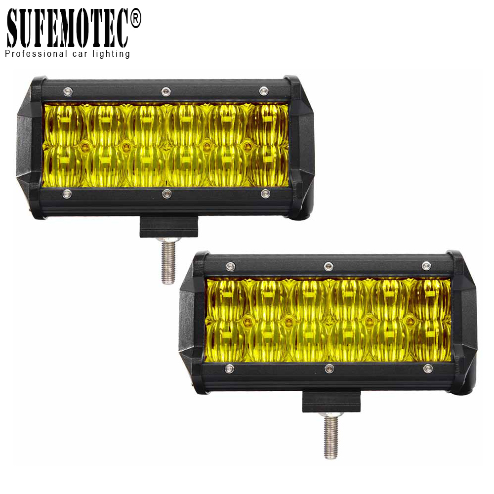 2Pcs 5D 7 Inch 60W LED Work Light Bar for Tractor Boat OffRoad 4WD 4x4 Truck ATV SUV 12V 24v Fog Driving Lamp Pick Up Lights image