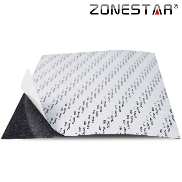Zonestar 2017 newest heatbed hotbed sticker 220mm*220mm  310mm*310mm Customize size Printing Build Plate Tape for 3D Printer