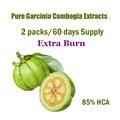 (2 Пакетов) чисто Garcinia cambogia потеря веса эффективно Сжигать Жир 85% HCA дополнение Диеты 60 дней поставки для женщин и мужчин