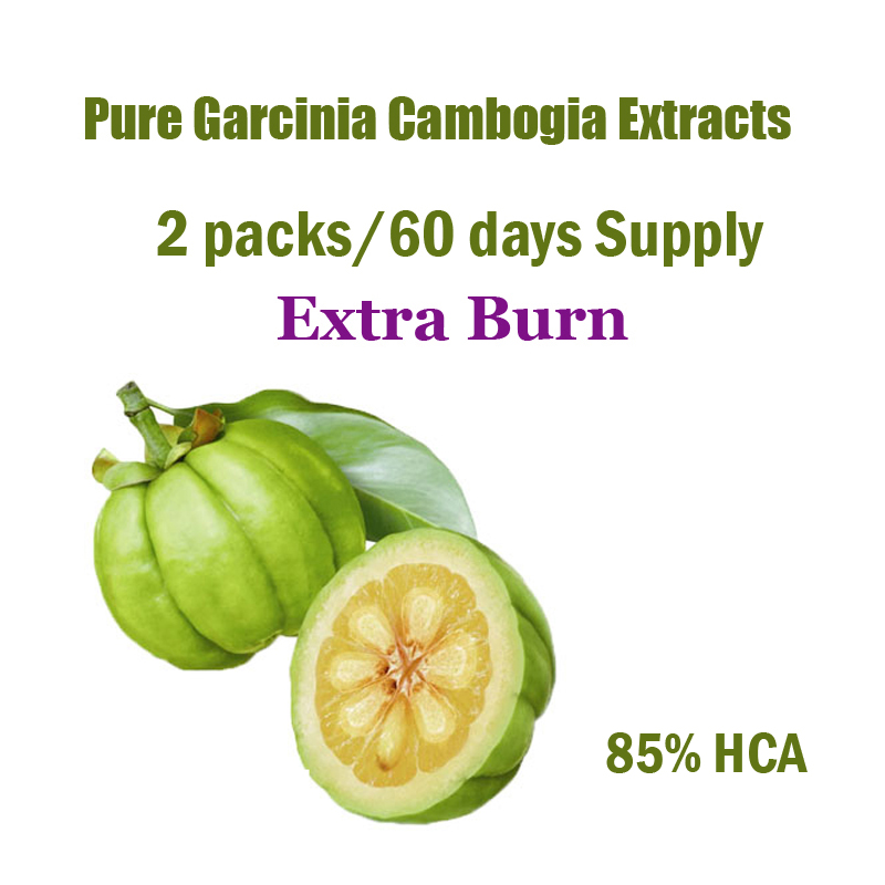 ( 2 Packs ) Pure Garcinia cambogia extract weight loss effective Burn Fat 85% HCA Diet supplement 60 days supply for women & men
