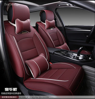 For Dodge Ram Charger Durango Journey Dart Red Black Waterproof Soft Pu Leather Car Seat Covers