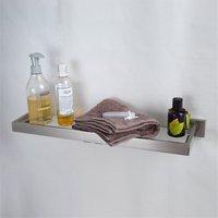 Bathroom Shelves Stainless Steel Finished By Brushed Nickel Black Single Glass Shelf Towel Rack Shower Storage