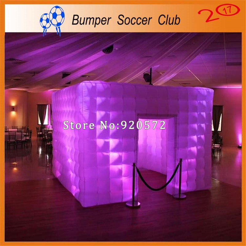 цены на Free Shipping ! Free Pump ! Portable inflatable photo booth enclosure LED light inflatable photo cube tent booth for sale в интернет-магазинах