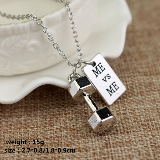 Gym Motivation Necklace