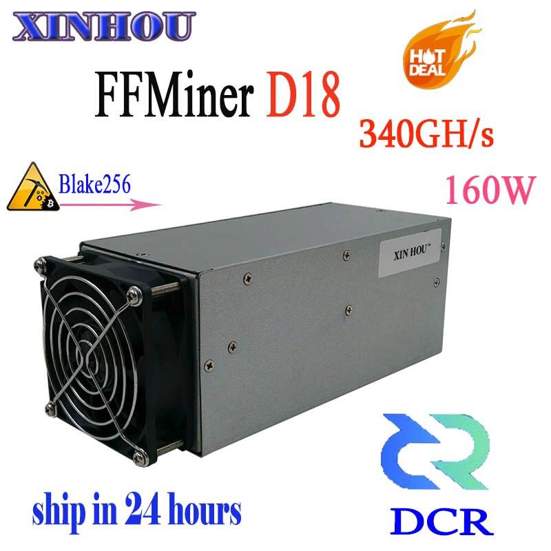 DCR minero FFMiner D18 340GH/S Asic Blake256 160 W mini y bajo ruido minero mejor que antminer S9 z9 L3 + DR3 T9 + (sin PSU)