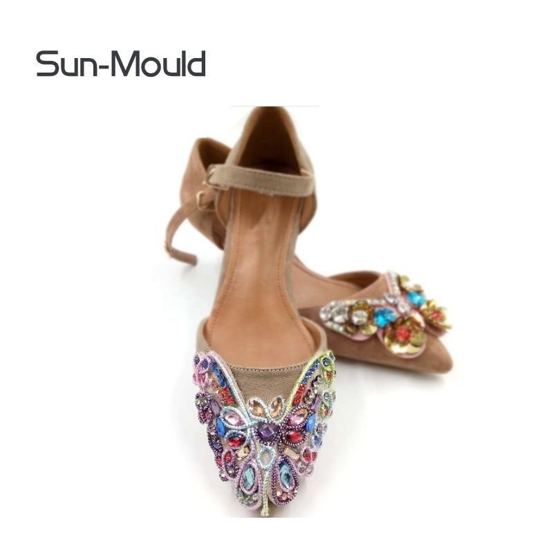 1pair shoes flower charms Patch on Applique  clothing bags hat Patch Sewing on Appliques high heel flats lady shoes decoration