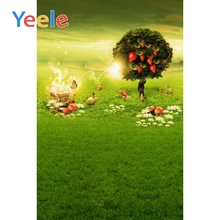Yeele spring Scenery Baby photography backdrops flowers green grassland Light backgrounds For photo studio photocall photophone