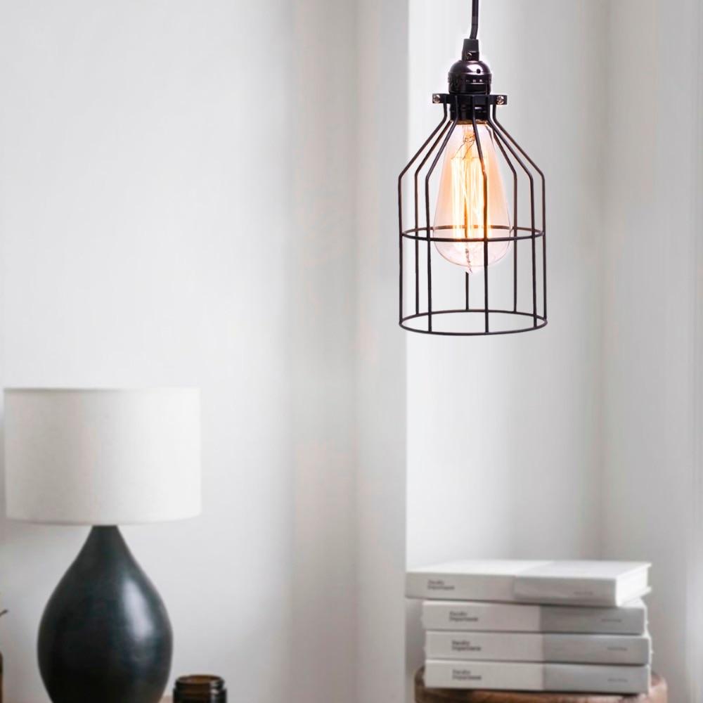 ФОТО Vintage American Industiral Loft Pendant Light Iron Drop Hanging Pendant Lamp E27 Edison Bulb Lighting 110V/220V Lampshade