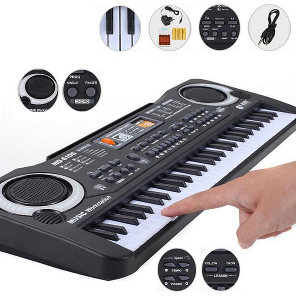 Jouet de formation musicale 61 touches Piano électronique enfants Piano jouet d'enseignement Musical pour enfants clavier Piano électrique enfants cadeau
