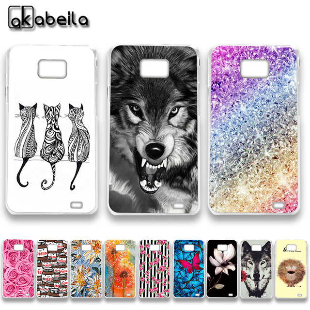 AKABEILA Soft TPU Plastic Phone Cases For Samsung I9100 Galaxy S II I9100G i9108 i9100p SII S2 GT-I9100 4.3 inch Covers Nutella