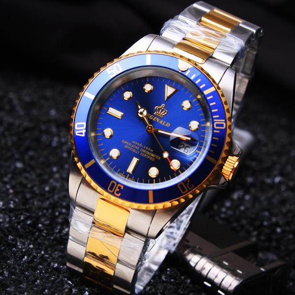 Prix pour Hk Célèbre Marque De Luxe Bracelet En Acier Inoxydable Analogique Affichage de la Date Hommes de Quartz Occasionnel Horloge Hommes Montres de Sport relogio masculino