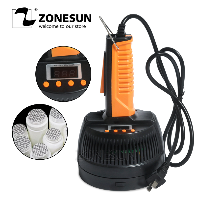 ZONESUN Microcomputer Hand held Electromagnetic Induction Aluminum Foil Sealing Machine Continuous Bottle Mouth Induction Sealer