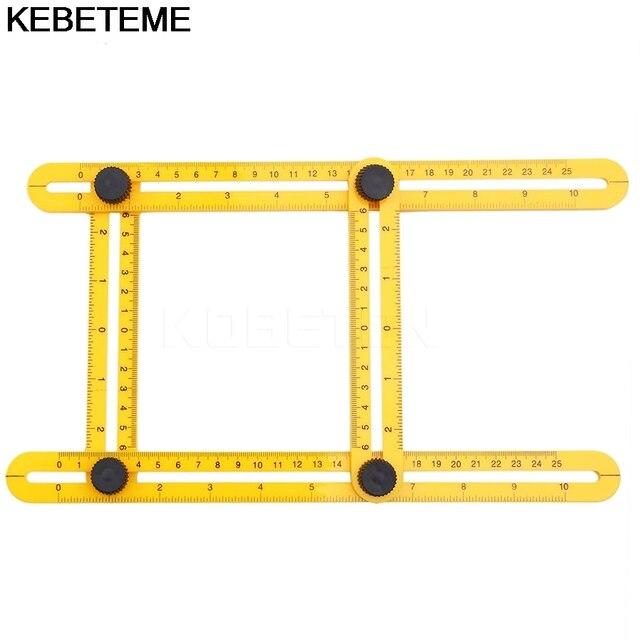 Multi Angle Ruler Four Side Ruler Template Tool Adjustable Folding - angle template