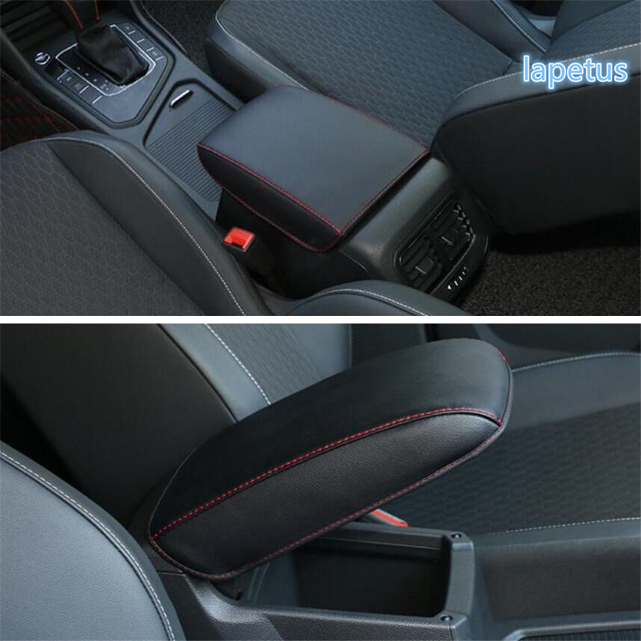 Lapetus Accessories Fit For Volkswagen VW Tiguan 2016 2019 Middle Armrest Storage Box Protection Pad Mat Decoration Cover Trim in Interior Mouldings from Automobiles Motorcycles