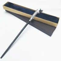 Neue Metall Core Lucius Malfoy Zauberstab/Harri Magie Magische Stab/Hohe Qualität Geschenk Box Verpackung