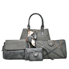 Women s PU Leather Top Handle Bag Shoulder Bag Wallet Purse 5 Pcs Set Female Composite