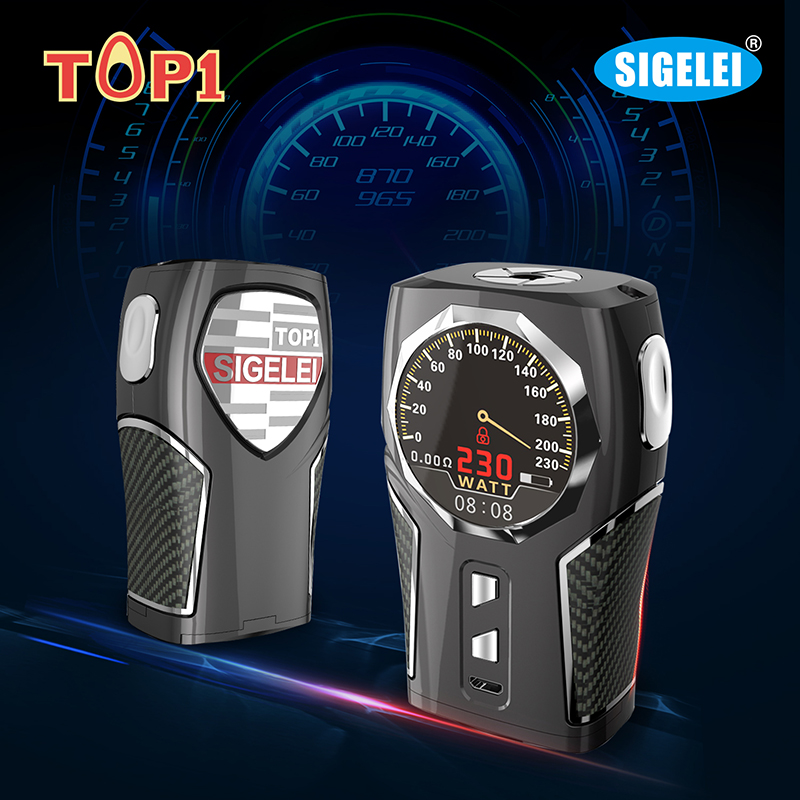 Original Sigelei Top 1 Mod  230w TC Box Mod 1.3 TFT circular Big Round Screen Zinc alloy Electronic Cigarette Mod Kit боксмод sigelei fuchai 213w tc blue силик чехол