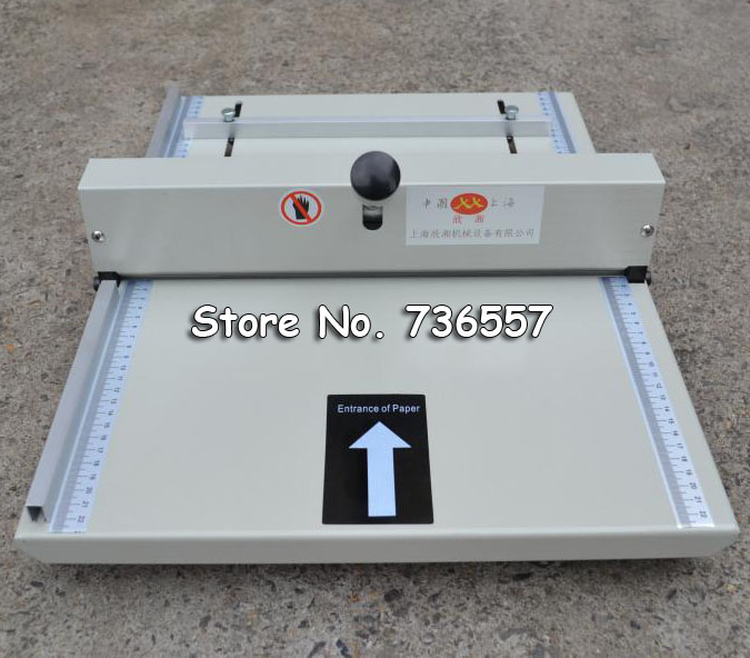 Brand new paper Creasing machine paper creaser A4 350MM Card covers, High gloss covers, Thick covers prior tobooklet-making 3r 4r 5r 6r a3 a4 high gloss glossy photo paper for inkjet printer photographic quality colorful graphics output album covers
