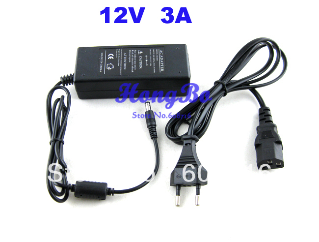 Power adapter charger 36W AC 100-240V to DC 12V 3A Power Supply Adapter for LED Strip ac 85 265v dc 9 12v power supply adapter for 3 x3w led illuminated