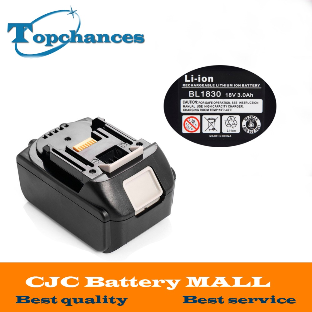 Brand NEW 3000mAh 18 VOLT Li-Ion Power Tool Battery for Makita BL1830 Bl1815 194230-4 LXT400 14 4v 3000mah power tool battery li ion for metabo 6 25482 bsz 14 4 impuls li bsz14 4